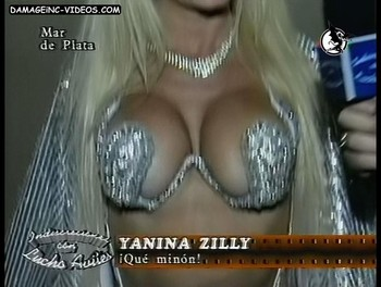 Yanina Zilly big boobs bra